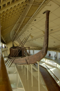 The Khufu ship is an intact full-size vessel from Ancient Egypt