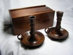 candle stands and box